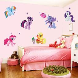 DIY Cute Wall Sticker Hot Cartoon Horse Decals Kids Nursery