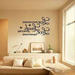 "Wall Sticker ""Live Every Moment Laugh Every Day Love..."""