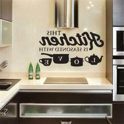 Wall Sticker PVC Kitchen Home Art Wall Decal Bedroom Room De