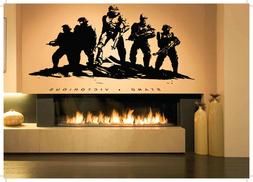 Wall Sticker Soldiers Warrior Stand Victorious Mural Decal V