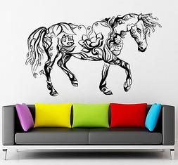Wall Sticker Vinyl Decal Horse Animal Beautiful Abstract Dec