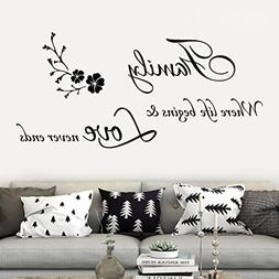 YJYDADA Wall Stickers,Family Removable Art Vinyl Mural Home
