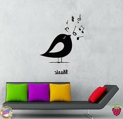 Wall Stickers Vinyl Decal Birds Notes Music Romantic Decor F