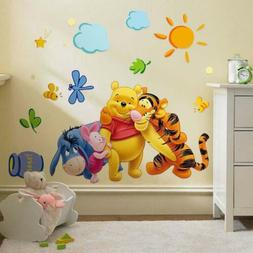 Nursery Wall Stickers Winnie The Pooh boy kid baby Room Viny