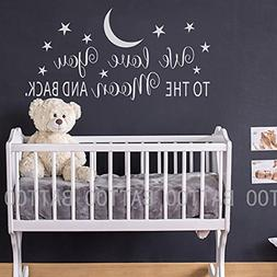 BATTOO We Love You to The Moon and Back Wall Decal - Nursery