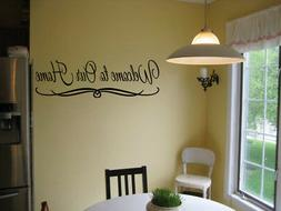WELCOME TO OUR HOME VINYL WALL DECAL QUOTE DESIGN LETTERING