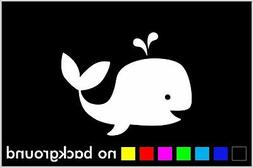 Whale Sticker Vinyl Decal Car Window Wall Decor Love Cute An