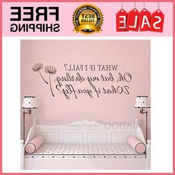 What If I Fall Oh My Darling What If You Fly Wall Decal Quot