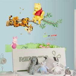 Winnie The Pooh On Tree Wall Stickers For Kids Bedroom Decor