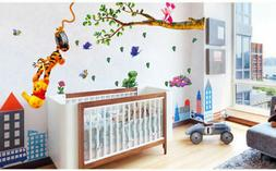 Winnie The Pooh Wall Stickers Nursery boy kid baby Room Viny